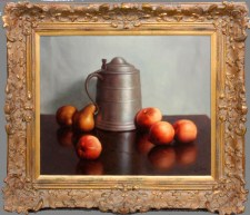 Pewter Vessel with Fruit