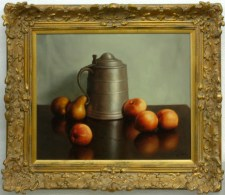 215585 Pewter Vessel with Fruit