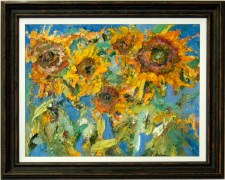 216050 Sunflowers in Blue and Gold